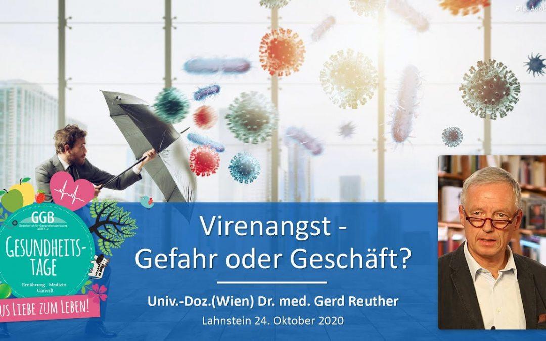 Virenangst — Gefahr oder Geschäft? — Dr. med. Gerd Reuther auf den Online-Gesundheitstagen derGGB