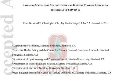 Stanford-Studie: Kein Nutzen durch Lockdowns, aber Risiken