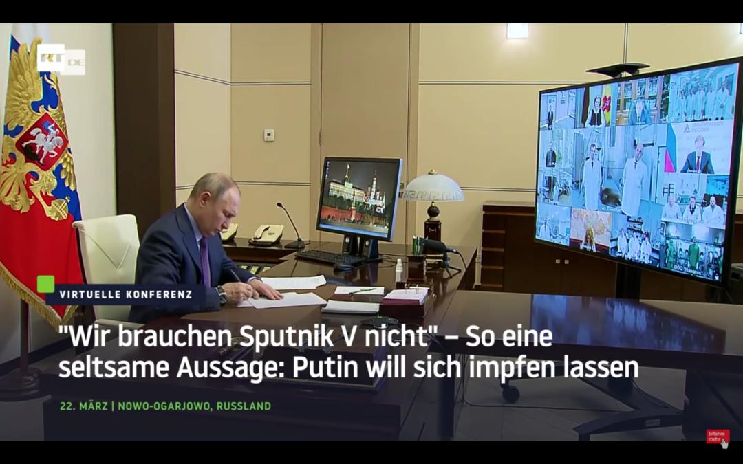 """""""Wir brauchen Sputnik V nicht"""" – So eine seltsame Aussage: Putin will sich impfen lassen"""